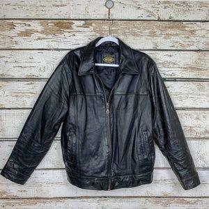 Sz Large MDK Unisex or Men's Black Leather Jacket